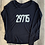 Thumbnail: Flowy Long Sleeve Tee - Navy and Pale Blue