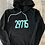 Thumbnail: 29715 or 29708 Hoodie - Black and Turquoise