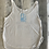 Thumbnail: Flowy Side Slit Tank - White with  Sweet Home Fort Mill in Navy & Pale Blue