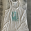 Thumbnail: Flowy Racerback - White Burnout and Turquoise