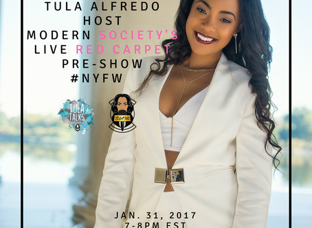 Watch Tula Alfredo host Modern Society's LIVE NYFW Red Carpet Pre-Show