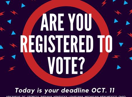 If you live in one of these states, today is your last day to register to vote