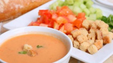 Spanish recipe, Gazpacho Andaluz: summer in a bowl!