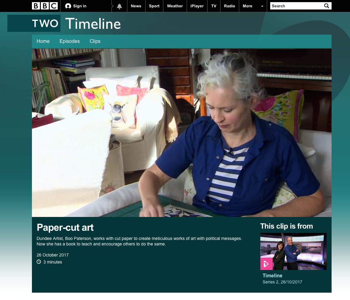 BBC2 Timeline