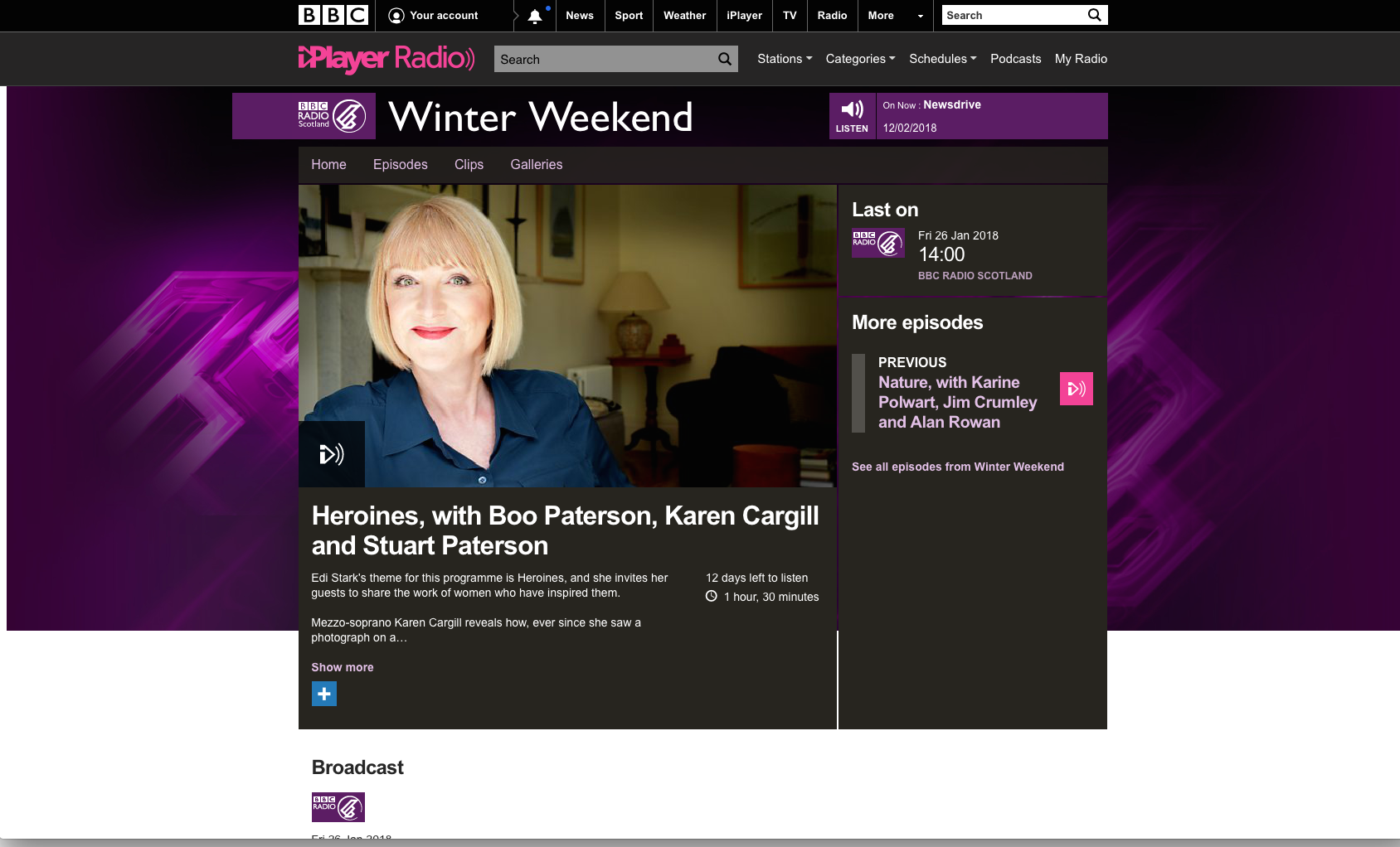BBC Radio Winter Weekend