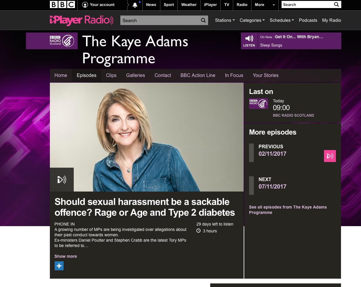 BBC Radio Kaye Adams Show