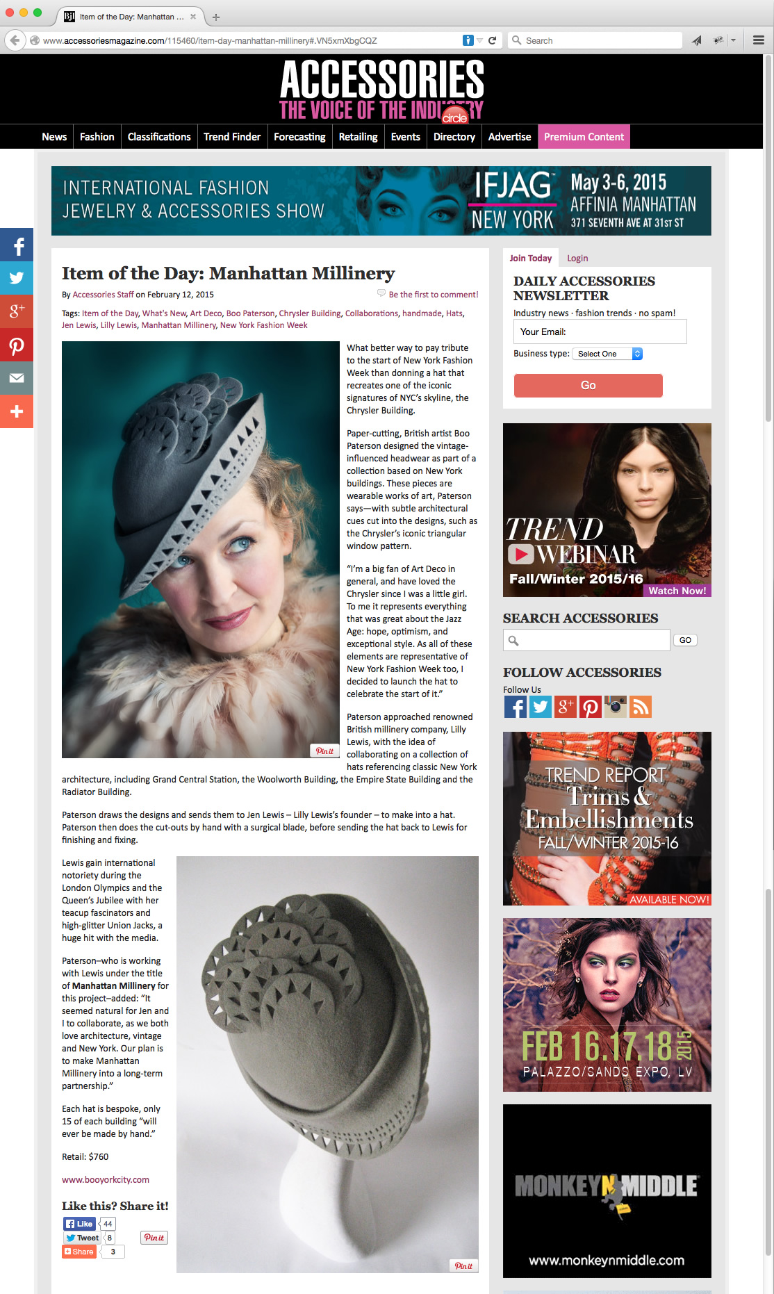 Accessories Magazine - interview