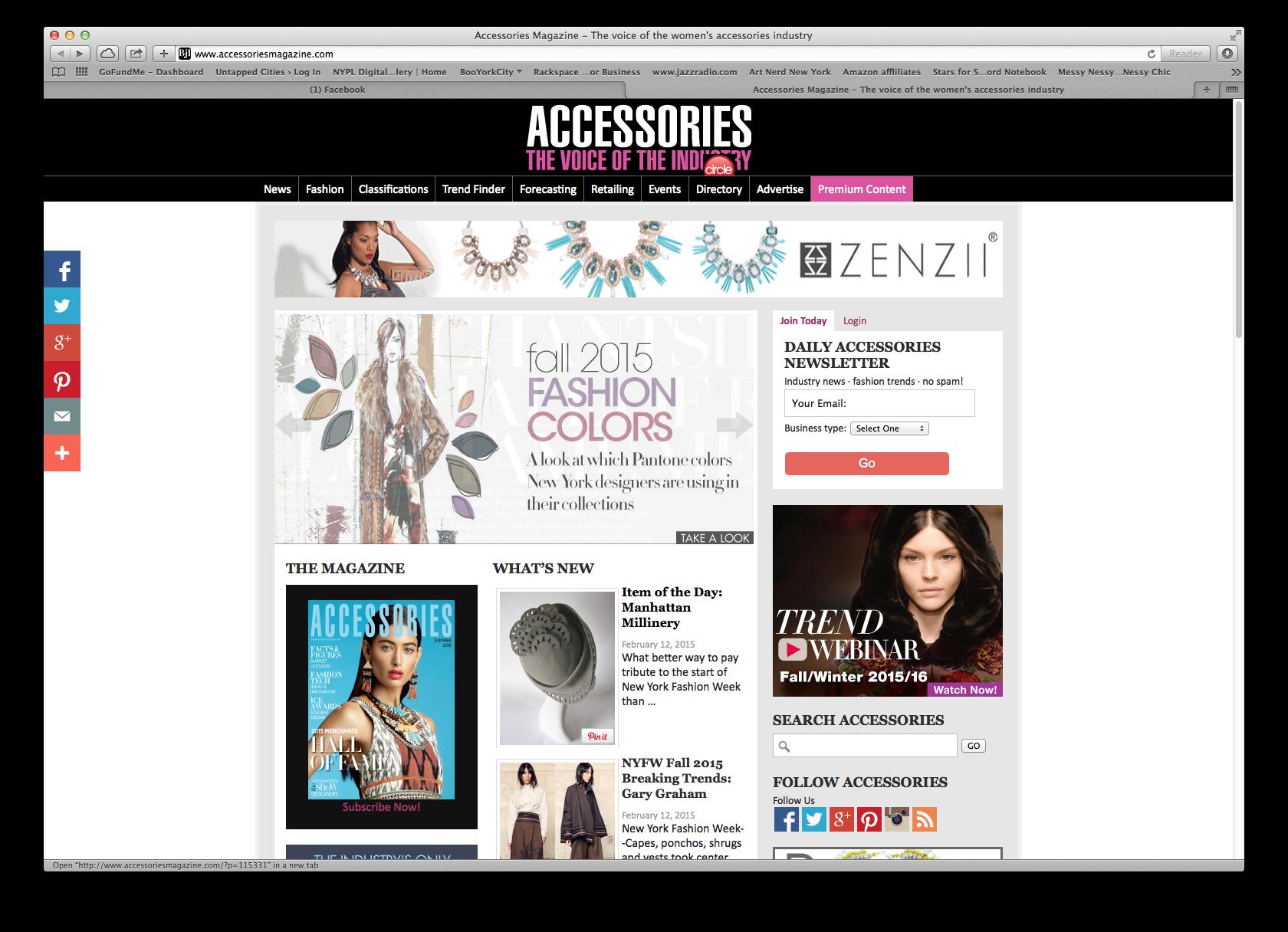 Accessories Magazine - feature