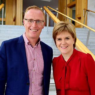 Bryan Burnett with Nicola Sturgeon