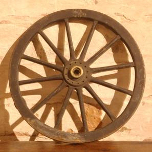 Devil Carriage wheel.