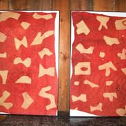 A pair of Kuba cloths