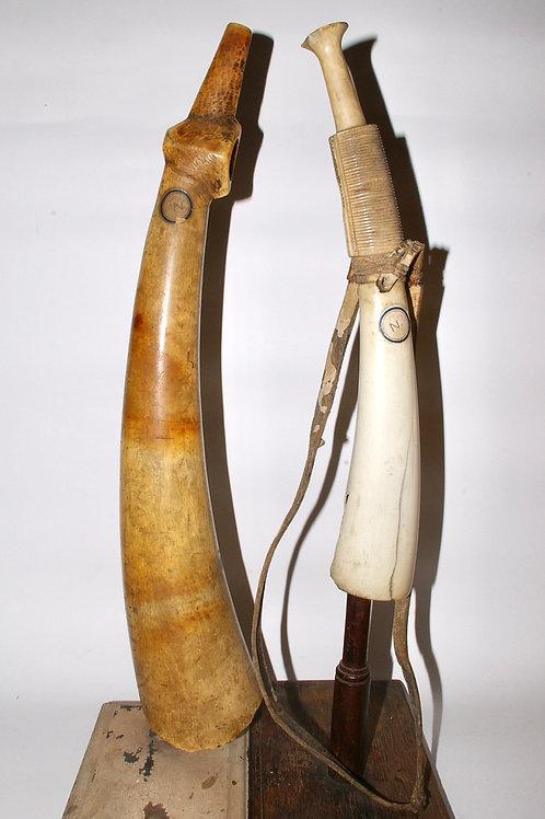 Two Mangbetu oliphants. Congo. Early 20th C.
