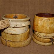 8 Shilluk ivory bracelets.