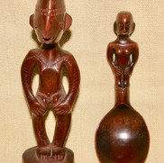Ifugao figure and spoon.