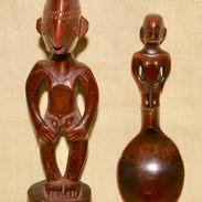 Ifugao figure and spoon.