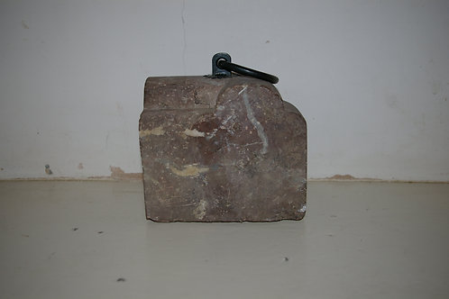 An Edwardian red marble corner moulding. SOLD