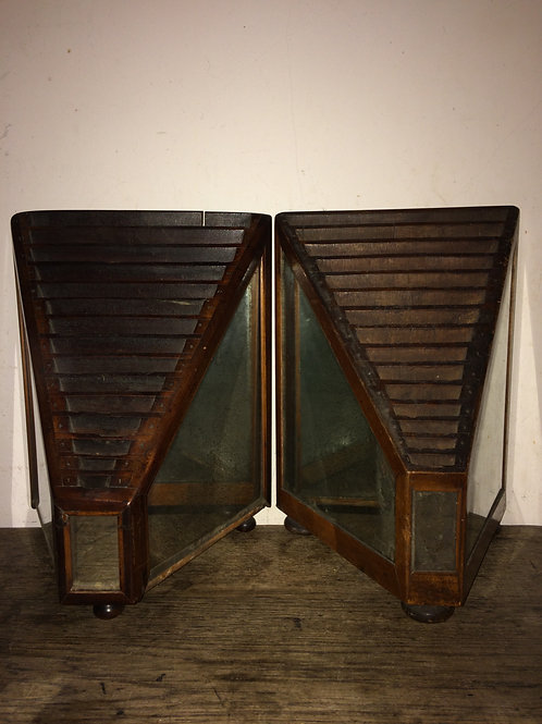 Two mystery 19th c mirrored boxes Ex Seward Kennerdy. SOLD