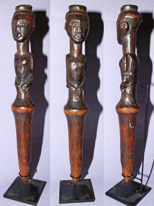 A Kuba fly whisk handle. D.R. Congo.