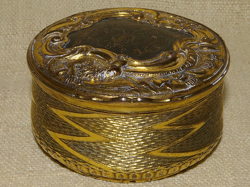 An 18th C. French Mercurial gilt snuff box.