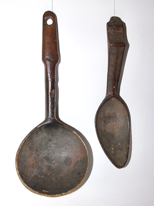 An Ifugao ladle and spoon. Phillipines. Ex Seward Kennedy collection.