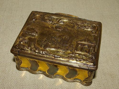 An 18th C. French Mercurial gilt snuff boxe.