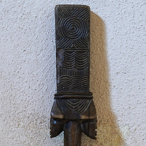 A Chokwe prestige Sceptre with Janus head figures.