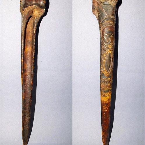 An Abelam Cassowary bone dagger from the Maprik mountains