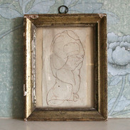 A torso of Hercules, attributed to Samuel Woodforde RA (1763-1817). In period silver gilt frame.