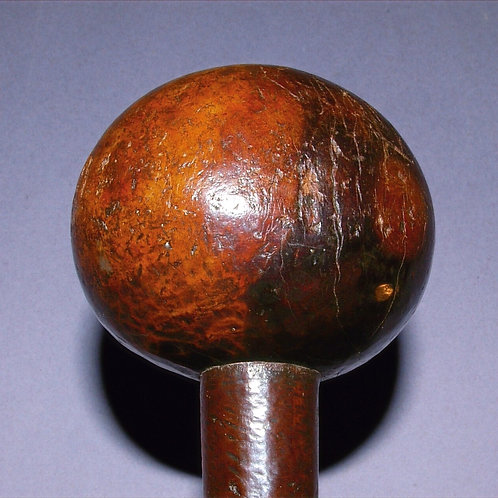 A Zulu Knobkerrie with old break. 19th C.