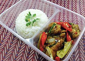 ข้าวปลาผัดพริกไทยดำ