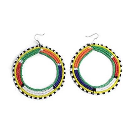 Large Round Maasa Hoop Earrings