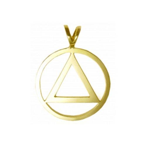 14k Gold Flat Style Symbol Pendant (Large, Style #06-1)