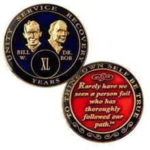 AA Tri-Plate Bill and Bob Medallion (21 to 45 years)