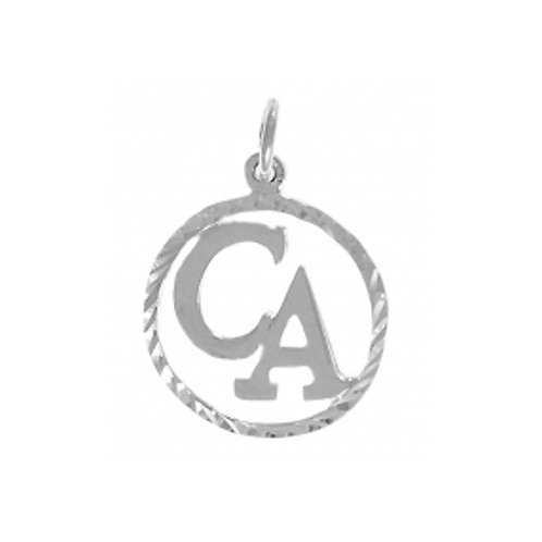 Cocaine Anonymous Sterling Silver Pendant (Style #282-16)