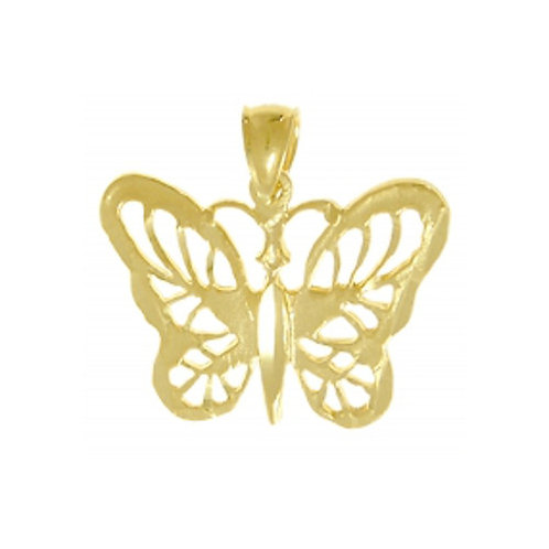 Beautiful Butterfly 14k Gold Pendant (Style #228-16)