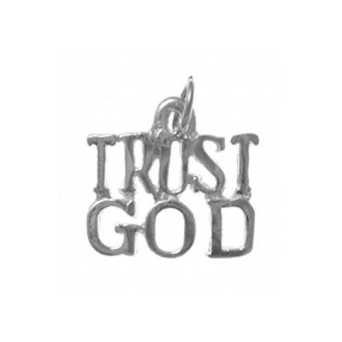 Trust God Sterling Silver Pendant (Style #167-15)