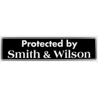 Protected By Smith & Wesson (Bumper Sticker)