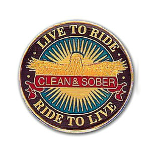 Live To Ride Recovery Medallion