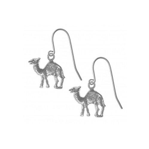 Adorable Camel Sterling Silver Earrings (Style #730-13)