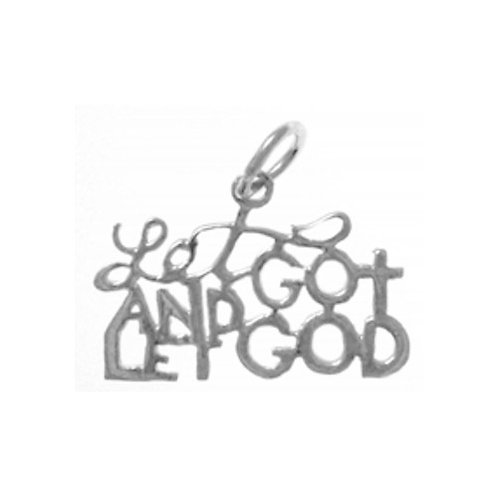 Let Go And Let God Sterling Silver Pendant (Style #154-15)