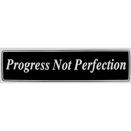 Progress Not Perfection (Bumper Sticker)