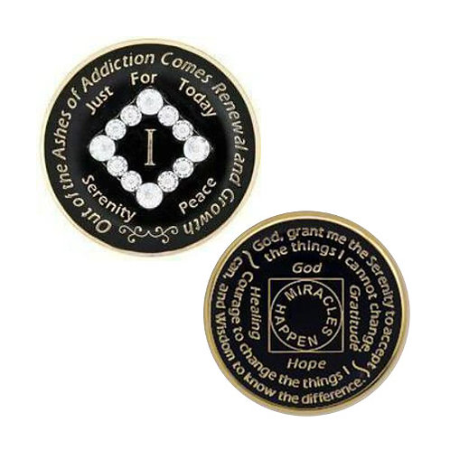 NA Black Bling Medallion (1 to 20 years)