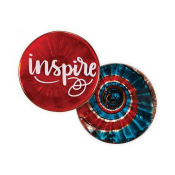 Inspirational Message Glass Token