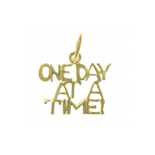 One Day At A Time 14k Gold Pendant (Style #145-15)