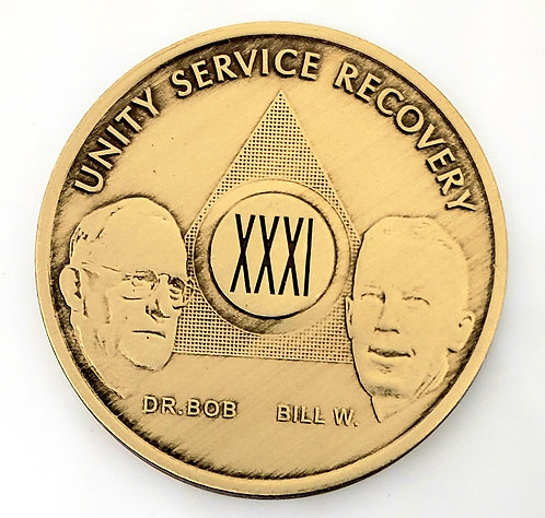 AA Bronze Bill and Bob Coin (21 to 45 years)