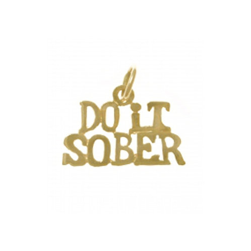Do It Sober 14k Gold Pendant (Style #159-15)