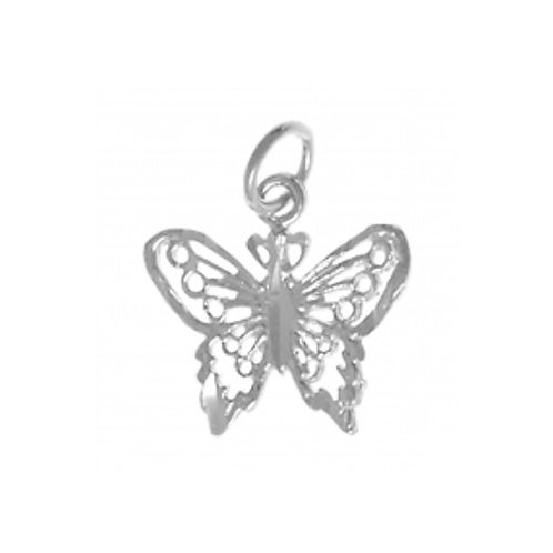 Beautiful Small Butterfly Sterling Silver Pendant (Style #220-16)