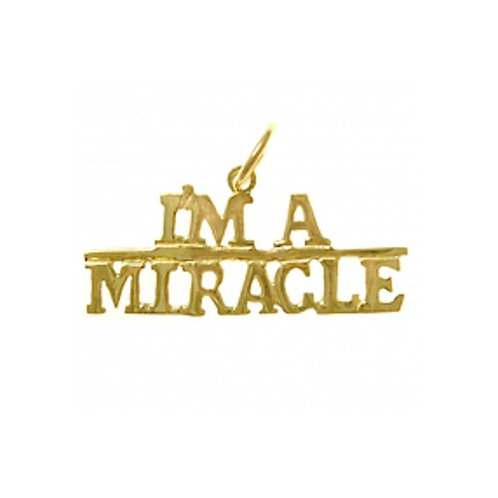I'm A Miracle 14k Gold Pendant (Style #161-15)