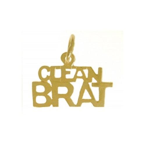 Clean Brat 14k Gold Pendant (Style #553-15)
