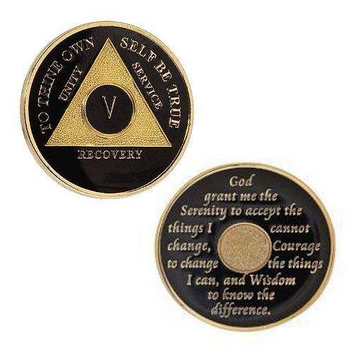 AA Tri-Plate Black Medallion (21 to 45 years)